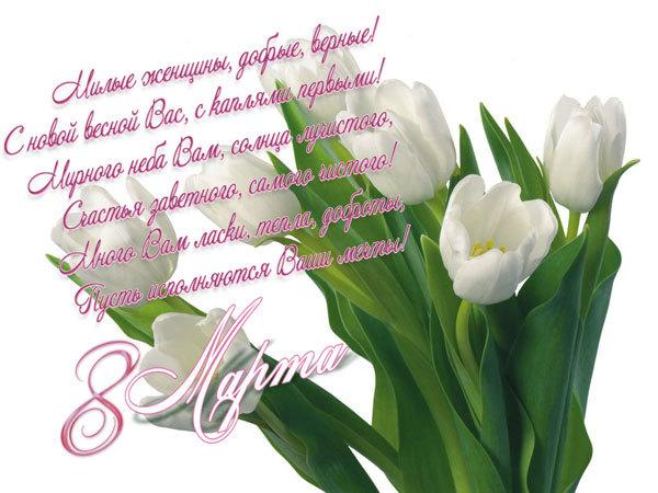 Милые, любимые женщины! Поздравляем Вас! С Международным женским днём!